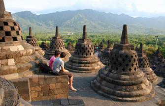 Indonesien-Inselschauspiel in drei Akten