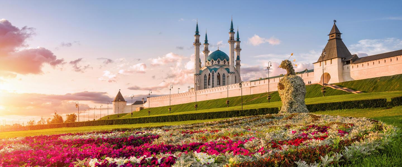 Die drei Hauptstädte Russlands: St. Petersburg, Moskau, Kasan