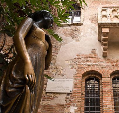 Romantisches Verona im Sommer
