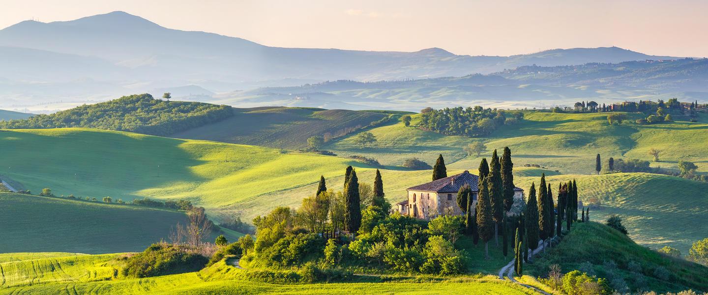 Sanfte Hügel in Umbrien und der Toskana