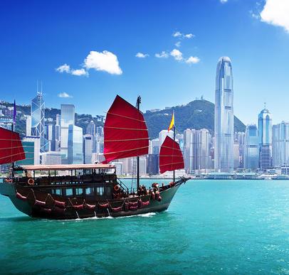 China mit Hong Kong und Macau